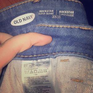 Old navy rockstar supper skinny jeans